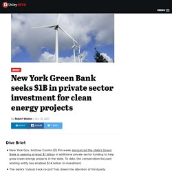 New York Green Bank seeks $1B in private sector funding for clean energy projects