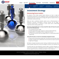 Private Equity Investment Strategy - Kotak Private Equity