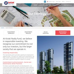 Investment in Real Estate Funds India - Kotak Realty Funds Group