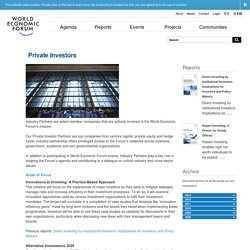 World Economic Forum - Private Investors