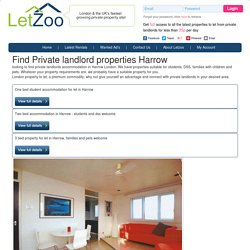 Find Private landlords property in Harrow