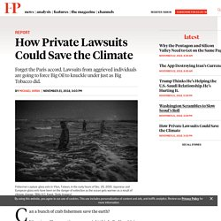 How Private Lawsuits Could Save the Climate