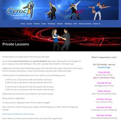 Private Lessons - Ceroc and Modern Jive Dance Company