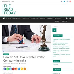 How To Set Up A Private Limited Company in India - The Read Today