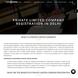 private limited company registration in Delhi