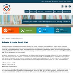 Private School Mailing List Database