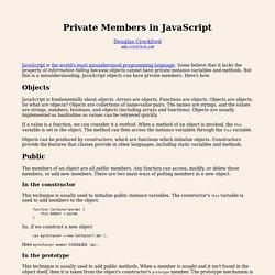 Private Members in JavaScript