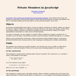 Private Members in JavaScript