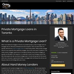 private lender mortgages