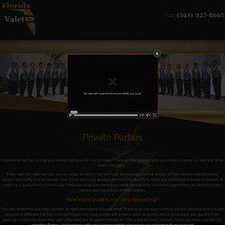 Private Parties Valet Parking - Valet Attendants