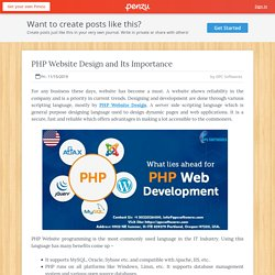 PHP Website Design and Its Importance