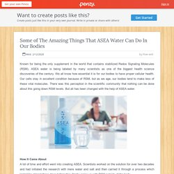 Some of The Amazing Things That ASEA Water Can Do In Our Bodies