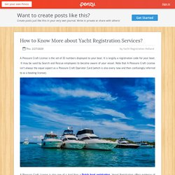 How to Know More about Yacht Registration Services?