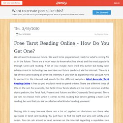 Free Tarot Reading Online - How Do You Get One?