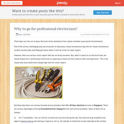 Why to go for professional electricians?