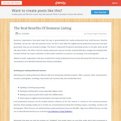 The Real Benefits Of Business Listing