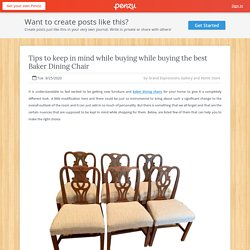 Tips to keep in mind while buying while buying the best Baker Dining Chair