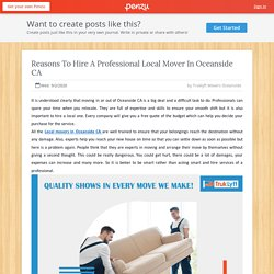 Reasons To Hire A Professional Local Mover In Oceanside CA