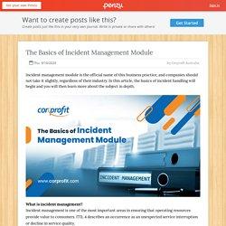 The Basics of Incident Management Module