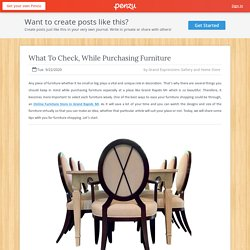 What To Check, While Purchasing Furniture