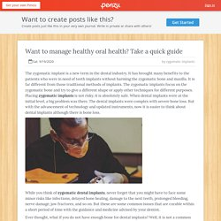 Want to manage healthy oral health? Take a quick guide