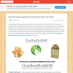 Why Wooden Bamboo Puzzles Are Best For Kids