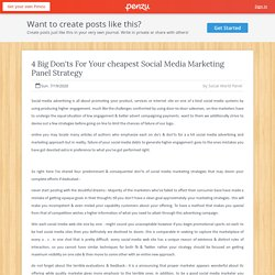 4 Big Don'ts For Your cheapest Social Media Marketing Panel Strategy