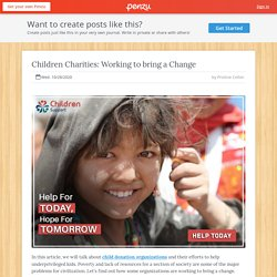 Children Charities: Working to Bring a Change