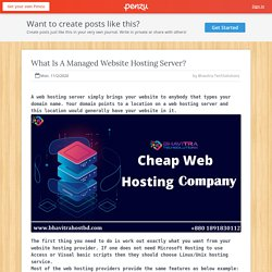 What Is A Managed Website Hosting Server?