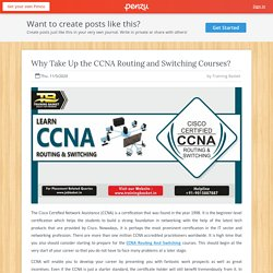 Why Take Up the CCNA Routing and Switching Courses?