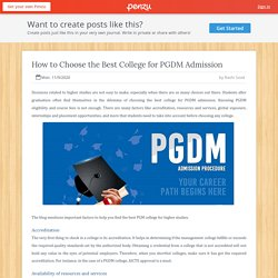 How to Choose the Best College for PGDM Admission
