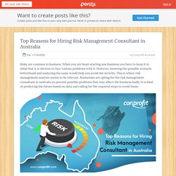Top Reasons for Hiring Risk Management Consultant in Australia