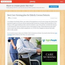 Best Care Nursing plan for Elderly Corona Patients