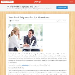 Basic Email Etiquette that Is A Must-Know