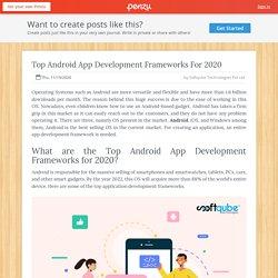 Top Android App Development Frameworks For 2020
