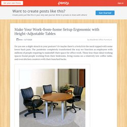 Make Your Work-from-home Setup Ergonomic with Height-Adjustable Tables