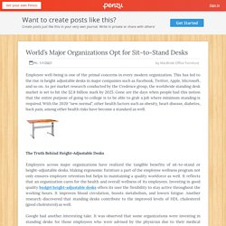 World's Major Organizations Opt for Sit-to-Stand Desks