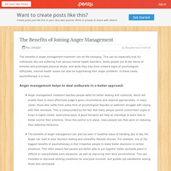 The Benefits of Joining Anger Management