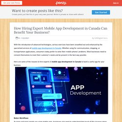 How Hiring Expert Mobile App Development in Canada Can Benefit Your Business?