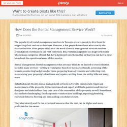 How Does the Rental Management Service Work?
