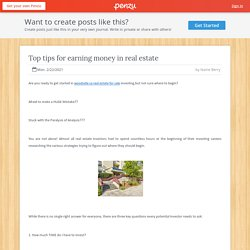Top tips for earning money in real estate