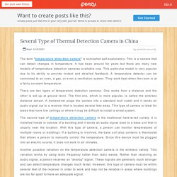Several Type of Thermal Detection Camera in China