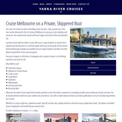 Personal Guided Boat Tour of Melbourne
