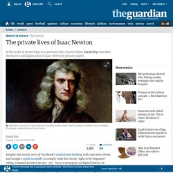 The private lives of Isaac Newton
