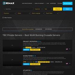 TBC Private Servers - Best WoW Burning Crusade Servers - Zremax