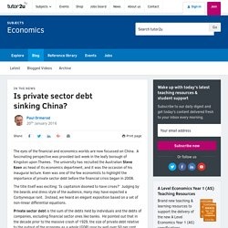 Is private sector debt sinking China?