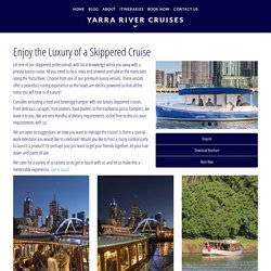 Private Skippered Boat Cruise Melbourne