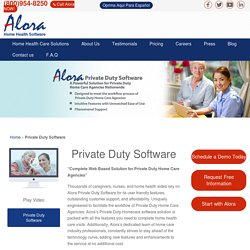 Private Duty Software And Its Benefits In Home Care Software