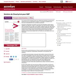 Private Cloud Solution for SAP