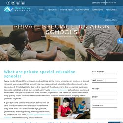 Private Special Education Schools - New Focus Academy